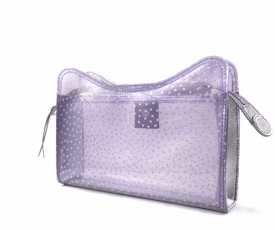 Jeffy Clutch in Lilac Tulle PVC