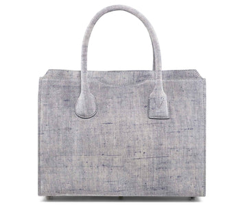 Highline 130 Suede Handbag in Washed Denim