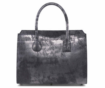 Highline 130 Pony-Hair Handbag in Vintage Gunmetal