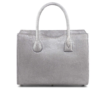 Highline 130 Pony-Hair Handbag in Glimmering Silver White