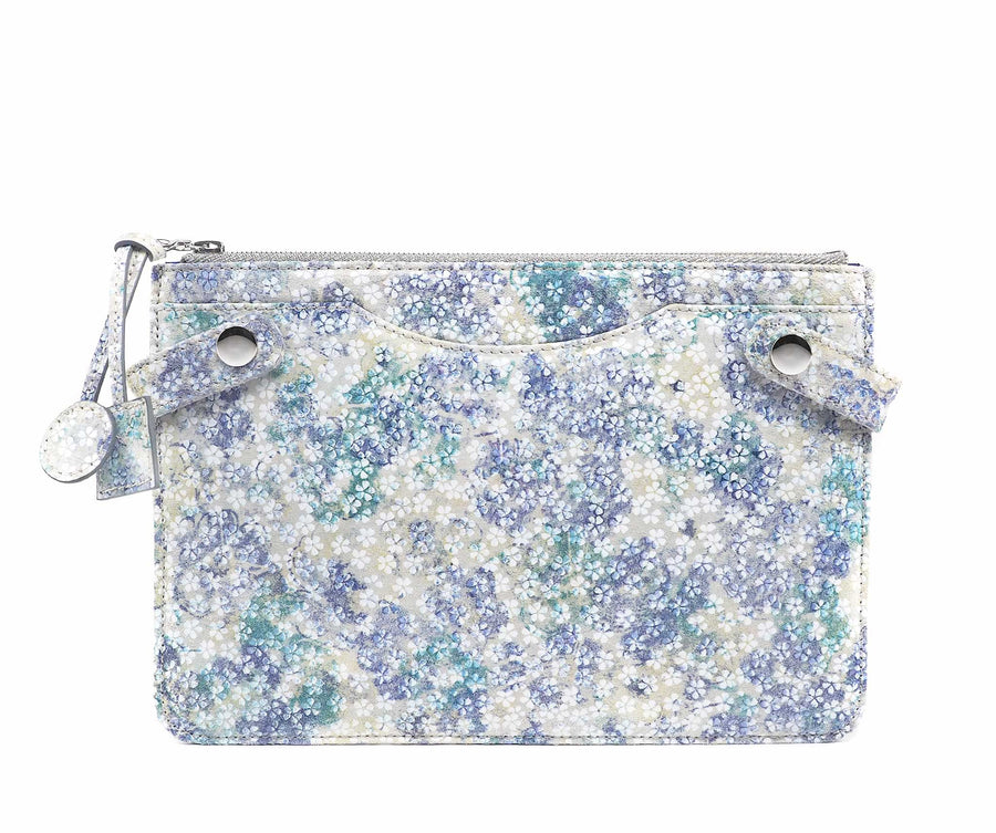 Highline Pouch in Watercolor Floral Suede