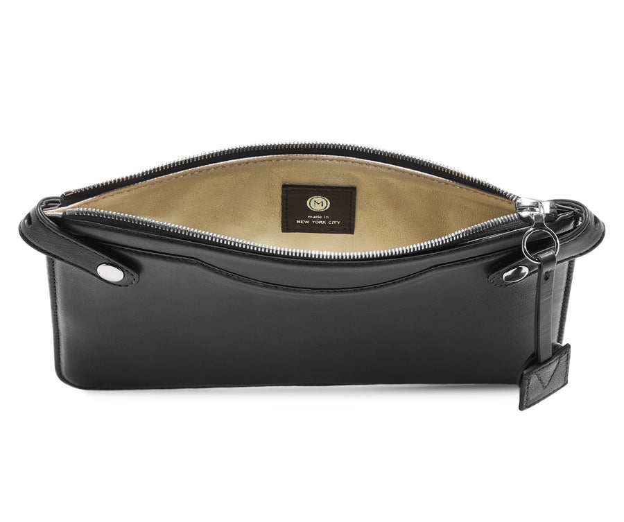 Highline Pouch in Embossed Leather - Bernard Maisner Crown