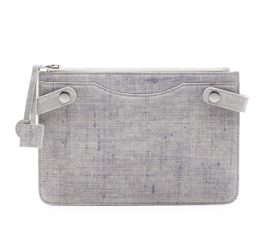 Highline Pouch in Washed Denim Suede