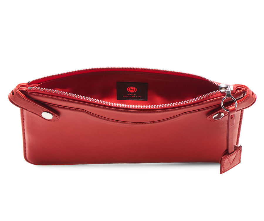 Highline Pouch in Red Lambskin