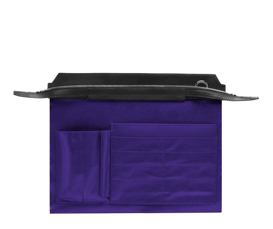Highline 130 Smooth Calfskin Handbag - Black / Purple