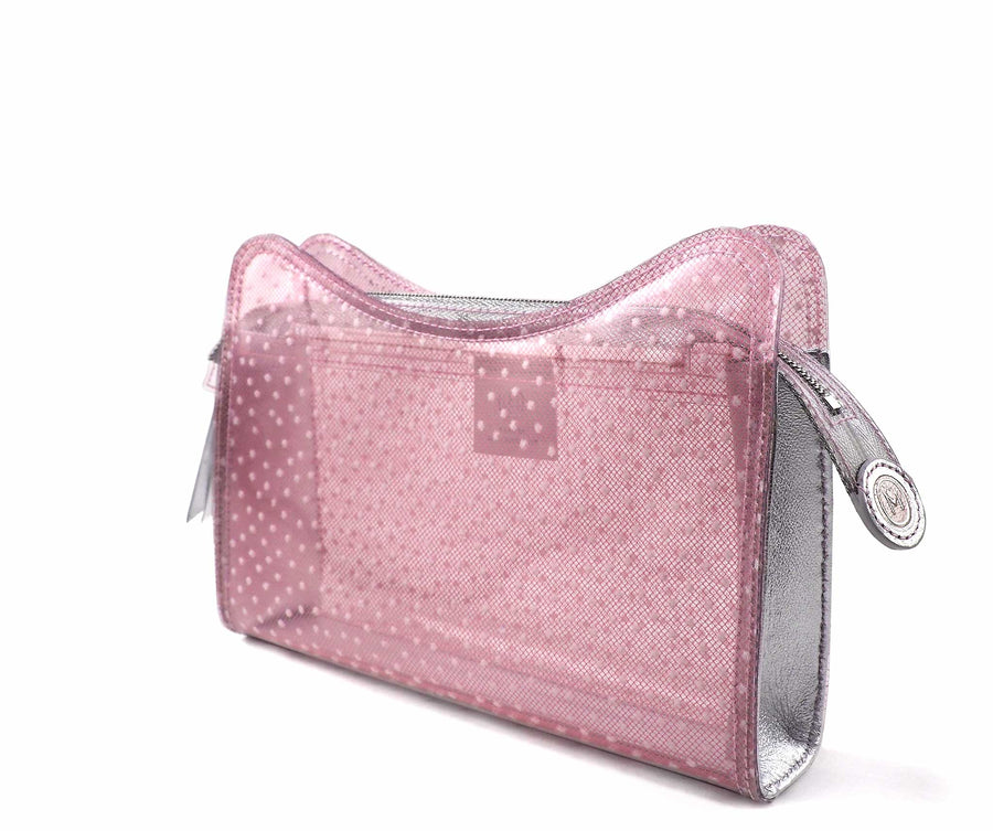 Jeffy Clutch in Pink Tulle PVC