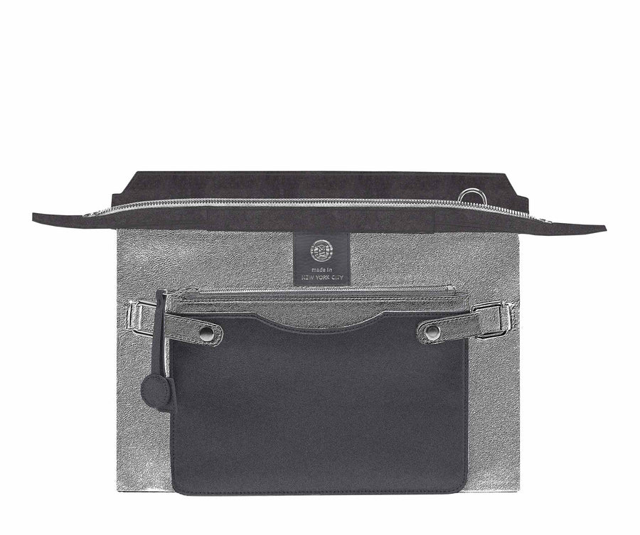 Highline 130 Suede Handbag in Charcoal