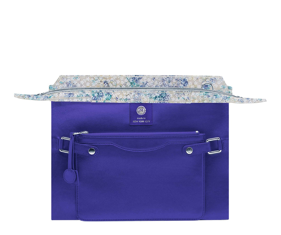 Highline 130 Suede Handbag in Watercolor Floral