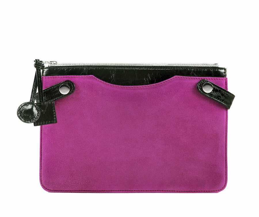 Highline Pouch in Orchid Suede