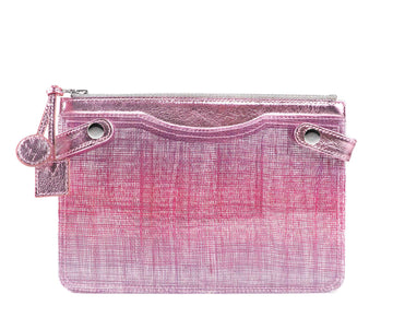 Highline Pouch in Pink Sisal PVC