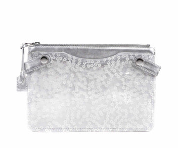 Highline Pouch in White Flower Tulle PVC