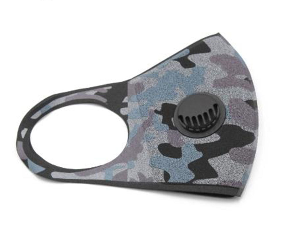 Fashionable Double Layer Mask with Exhalation Valve, Washable and Reusable Camo (Limited Edition)