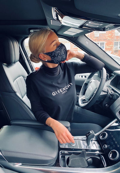 STYLISH DUST MASK WITH PRINT POLYESTER & SPANDEX, WASHABLE, REUSABLE
