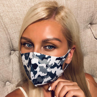 10Pcs STYLISH BREATHABLE FACE MASK COVER CAMO PRINT, (LIMITED STOCK)