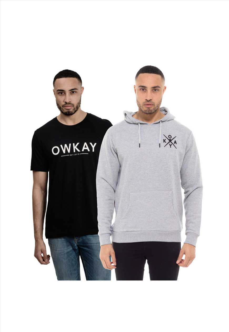BUNDLE 1 x HOODIE & 1 x T-SHIRT (SAVE £25)