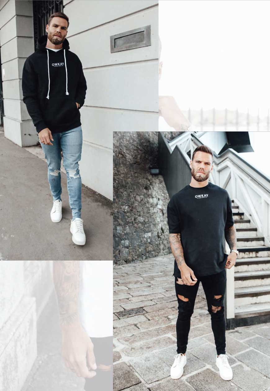 BUNDLE OVERSIZED HOODIE & T-SHIRT BLACK (SAVE £20)