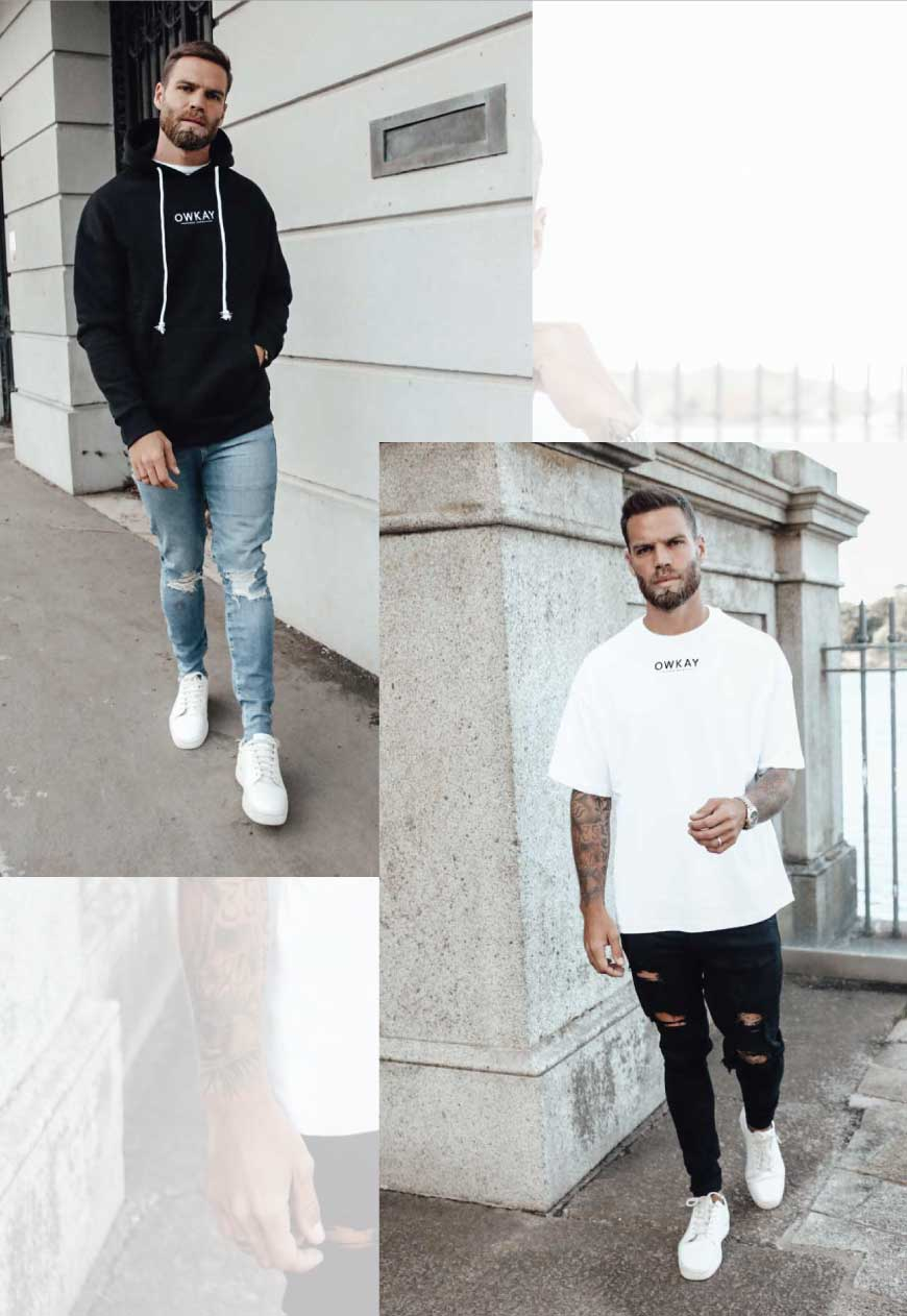BUNDLE OVERSIZED HOODIE & T-SHIRT WHITE (SAVE £20)