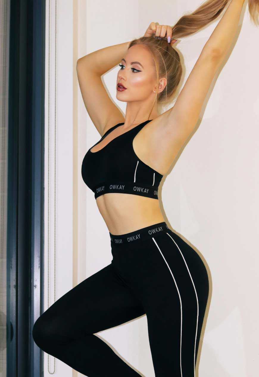 SET BRALETTE & LEGGINGS - BLACK