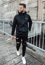 Load image into Gallery viewer, TRACKSUIT HOODIE POLY - BLACK