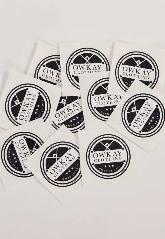 OWKAY STICKERS VINTAGE x 10