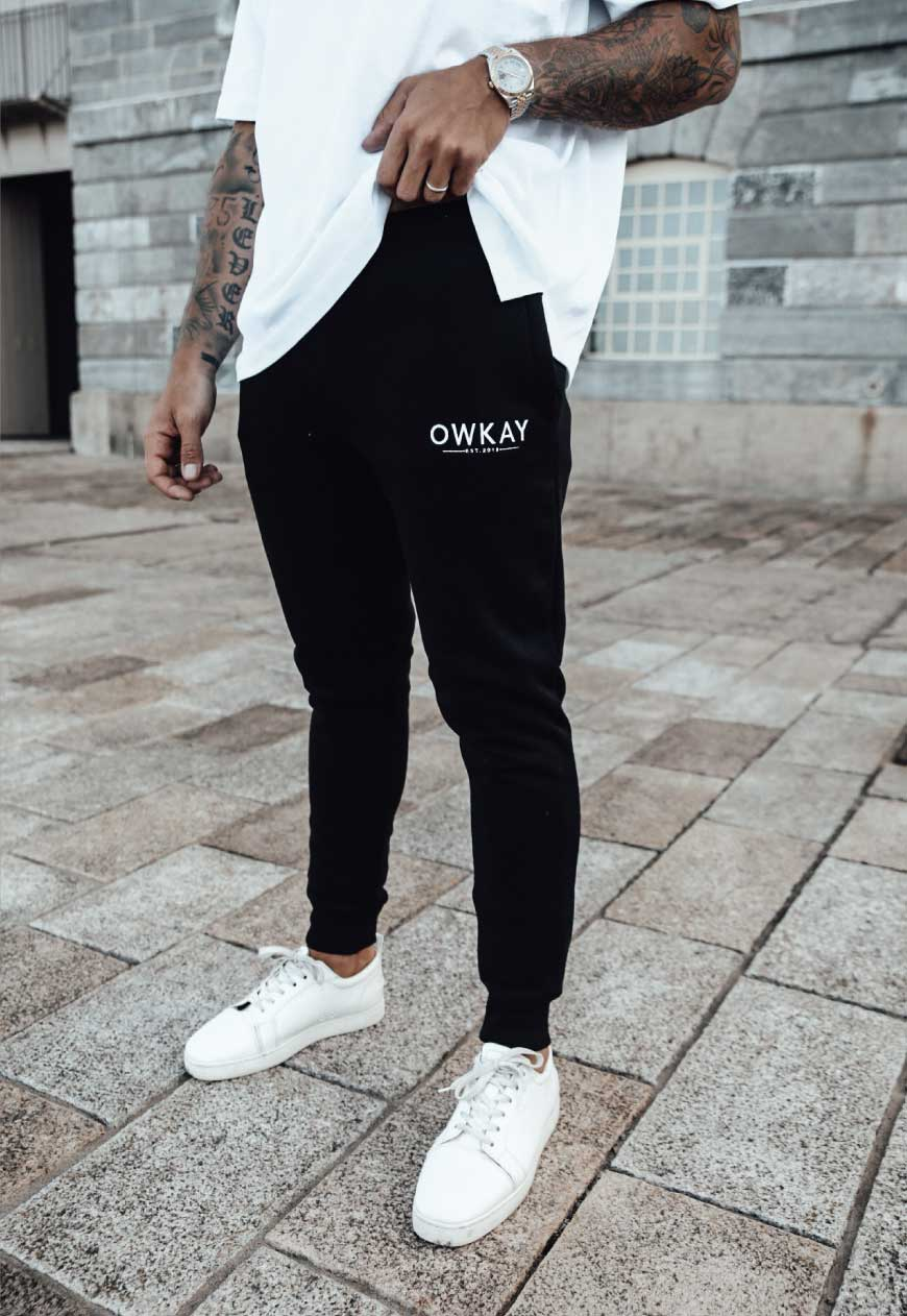 TRACKSUIT PANTS - BLACK