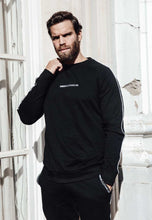 Load image into Gallery viewer, SWEATSHIRT PIPING - BLACK