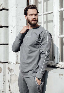 SWEATSHIRT PIPING - STEEL GREY