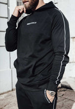 Load image into Gallery viewer, TRACKSUIT HOODIE PIPING - BLACK
