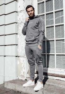 FULL TRACKSUIT PIPING - STEEL GREY