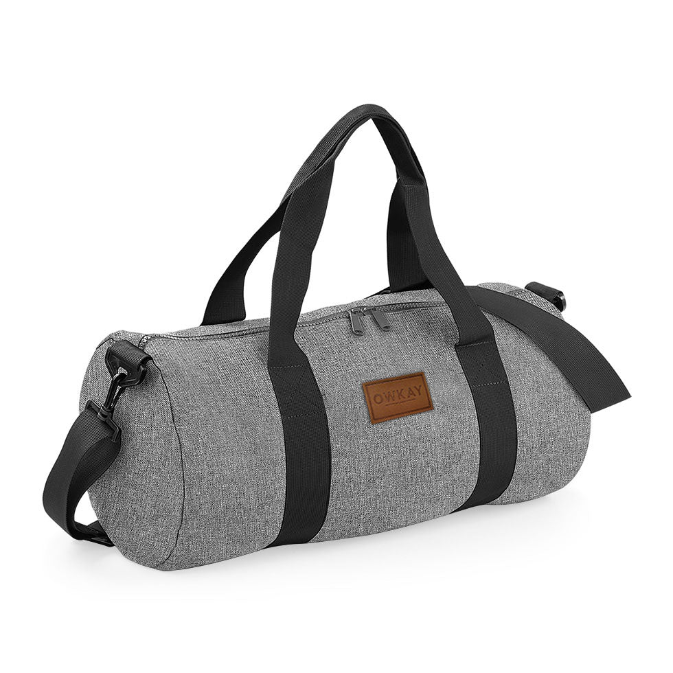 BARREL BAG GREY MARL