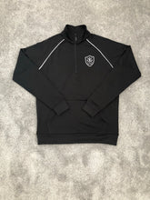 Load image into Gallery viewer, TRACKSUIT 1/4 ZIP POLY - BLACK
