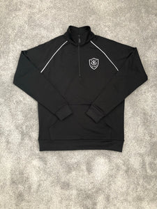 TRACKSUIT 1/4 ZIP POLY - BLACK