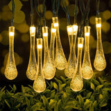 Solar Raindrops Light 7M LED String Lights