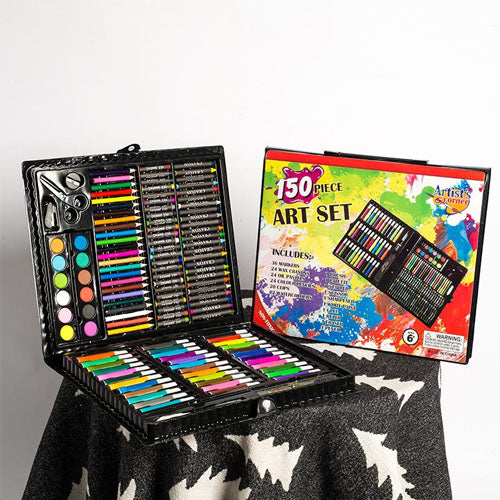 Trendy Children Art Set (150PCS Set) + Free Educational Coloring Book