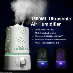 Ultra Air Humidifier 1.5L (FREE 2 Aroma Essential Oil)