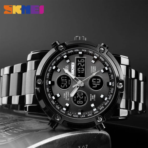 SKMEI MEN'S DIGITAL WATER RESISTANT QUARTZ WATCHES
