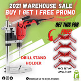 ELECTRIC DRILL STAND HOLDER + FREE 90 degree Right Angle Clamp (4PCS SET)