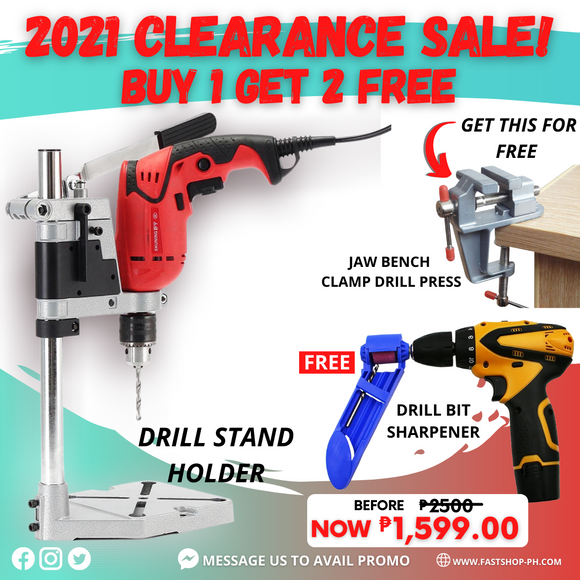 ELECTRIC DRILL STAND HOLDER +GET FREE 2 FREEBIES
