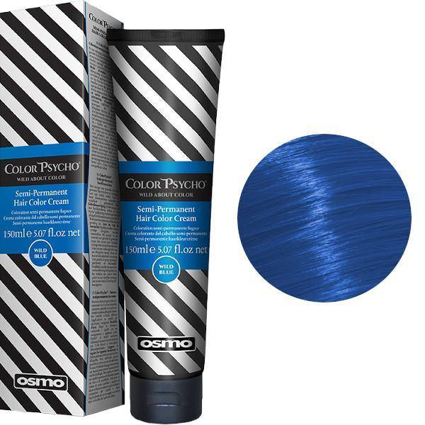 Osmo Color Psycho wild Blue  semipermanent hårfärg 150 ml - LottOff Online Shop