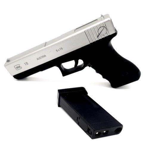 SKD AUTO/SEMI-AUTO GLOCK G18 NEW COLOUR SILVER GEL BLASTER
