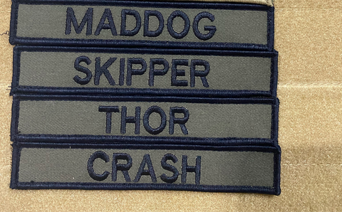 Embroidered Name tags