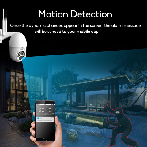 The GUUDGO Wireless Outdoor Wifi 1080P HD Security Camera offers state of the art motion recording and real-time motion alert via the APP. You can upload snapshots and videos and also adjust the motion sensitivity for accurate and smart motion detection and less false alarms.