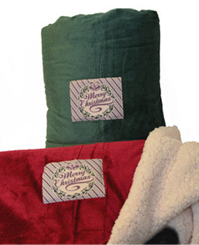 Merry Christmas Sherpa Blanket