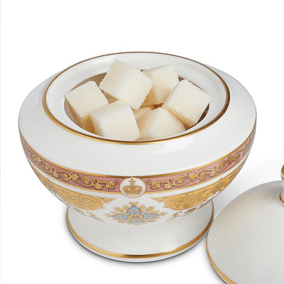 Library Collection sugar bowl with sugar cubes