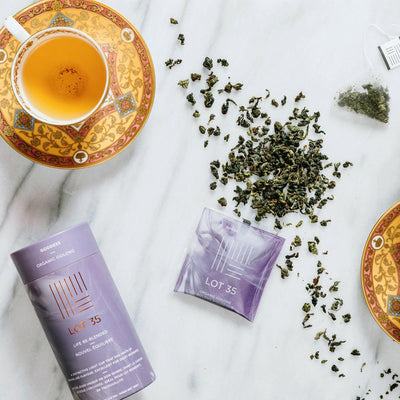 Cup of Organic Goddess Oolong loose leaf tea by Lot 35