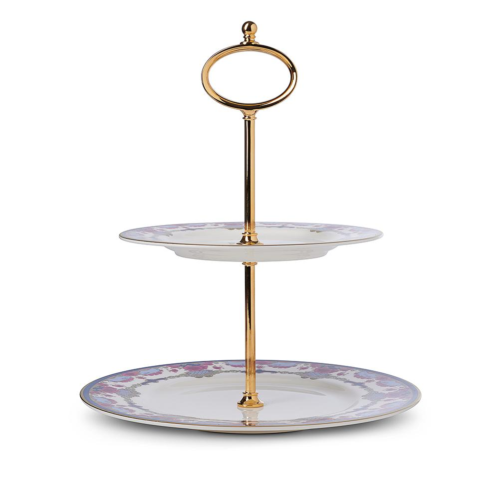 Empress Royal China 2-Tier Cake Plate