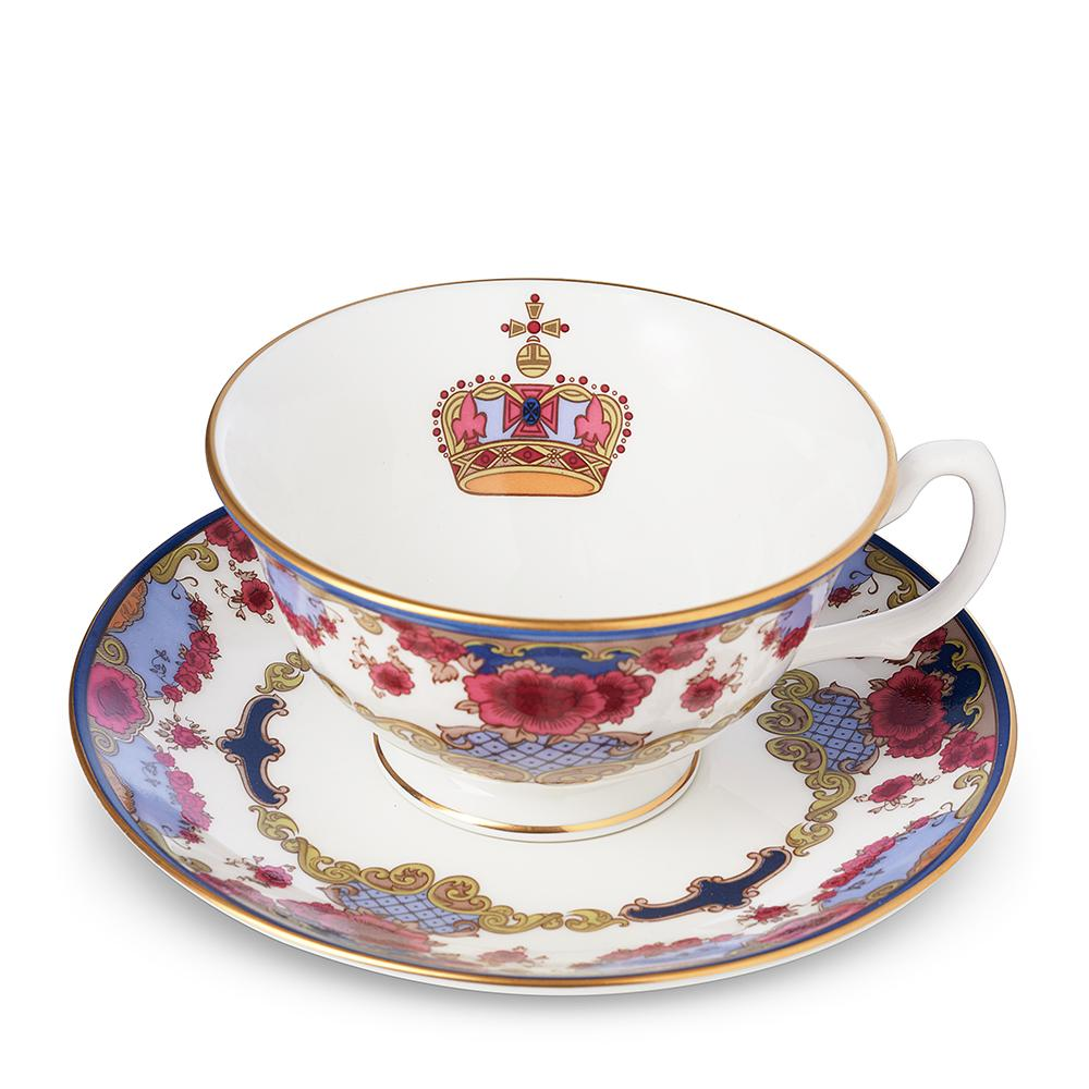 Empress Royal China Cup & Saucer Interior Image of Logo in Cup