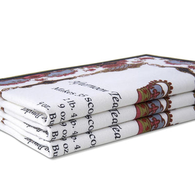 Empress Royal Pattern Tea Towels Stacked on an Angle