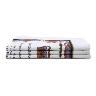 Empress Royal Pattern Tea Towel Stacked
