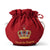 Empress Royal Pattern Teapot Cozy in Burgundy on Tea Pot